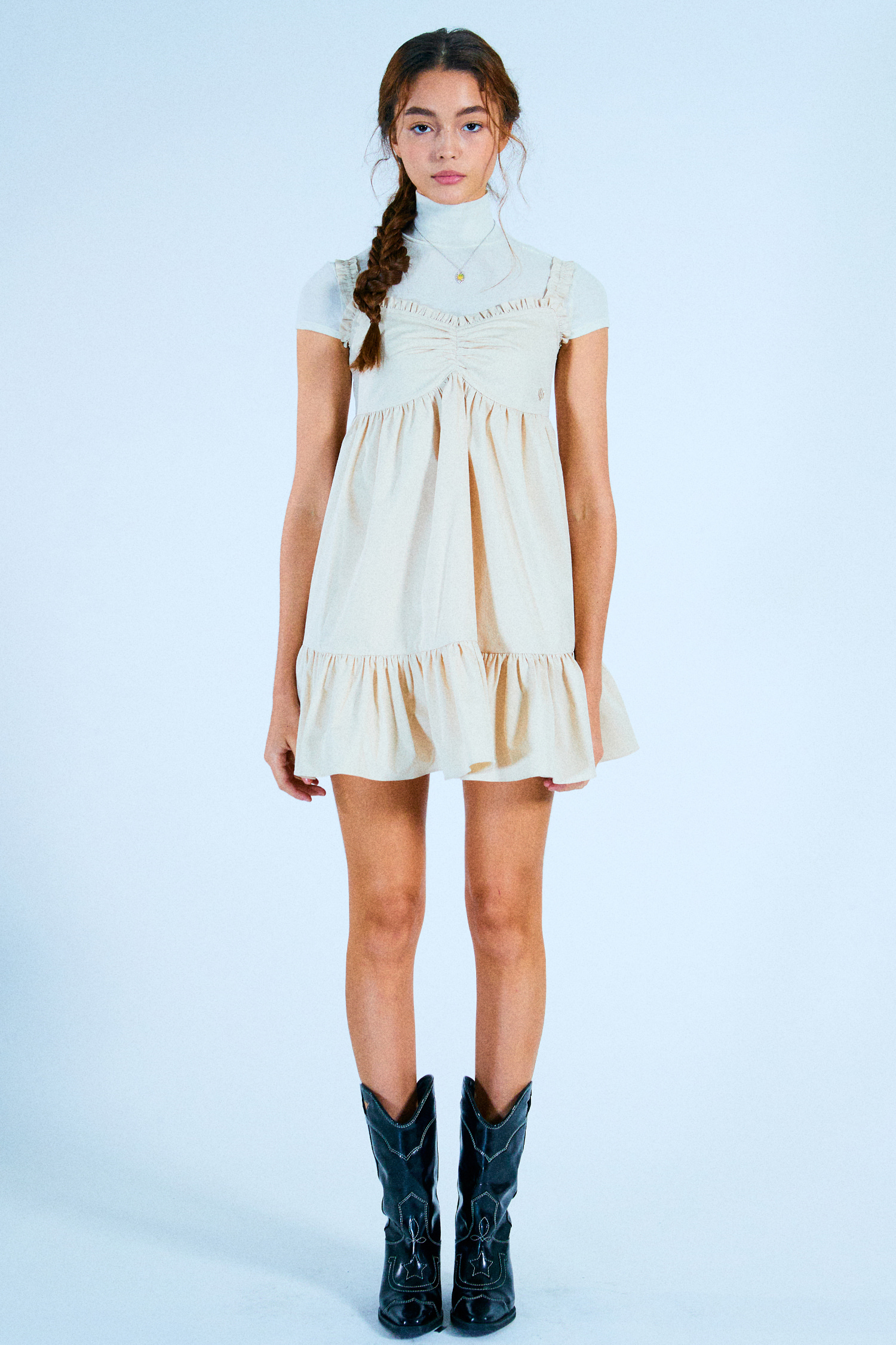 NANA DRESS_BEIGE COTTON